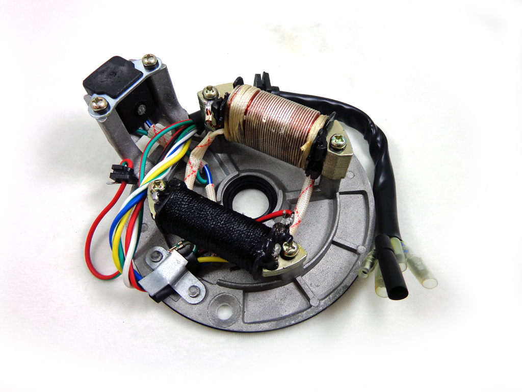 Electric Parts Coolster Atv Kpx Dirt Bike Wiring Diagram 2 Coil 70 90 110 125 Cc Magneto Stator Plate Pit